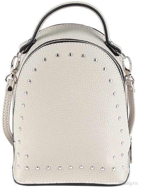 Сумка-рюкзак женская V133-004-1-7 экокожа с заклепками бежевая