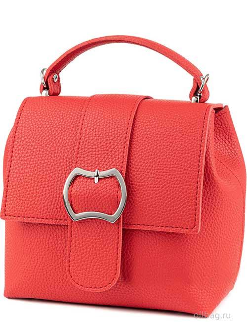 Сумка-рюкзак женская V139-001-11 экокожа гладкая красная